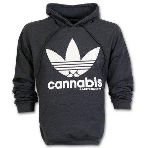 Amsterdam Cannabis Hoodie Dark Grey