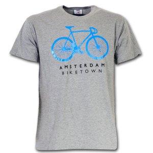 Amsterdam Biketown T-shirt Grey