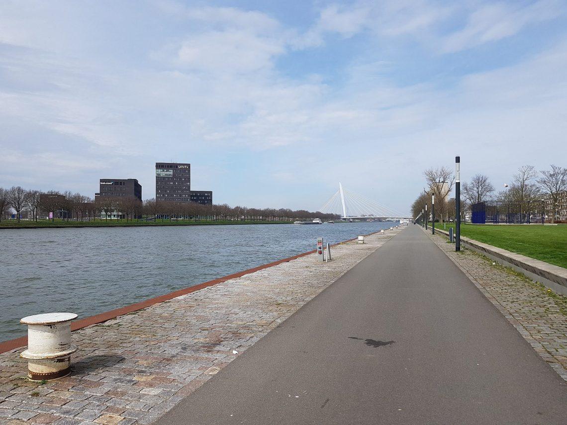 Amsterdam-Rhine canal near Utrecht - Prins Claus bridge