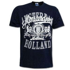Amsterdam 1275 Patch T-shirt Navy