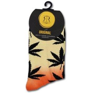 Wiet Sokken Dames Oranje / Zwart