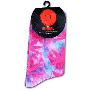 Wiet Sokken Dames Tie Dye Roze