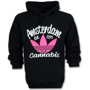 Amsterdam Cannabis Hoodie Fluor Pink