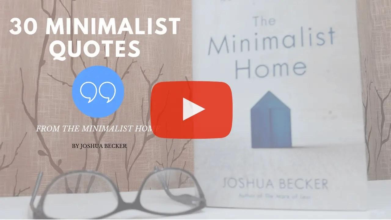 30 Minimalist Quotes