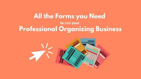 Professional Organizer documents