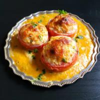 Stuffed Tomato In Makhmali Gravy