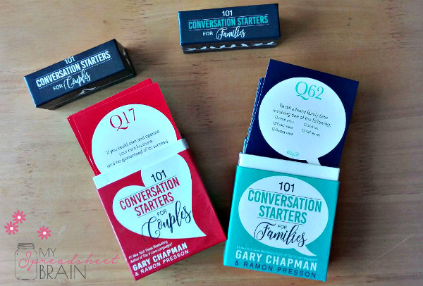 Gary Chapman's Conversation Starters made my family talk {Giveaway!}