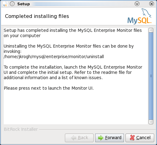 Installing the MEM 3.0 Service Manager - Step 11: Files are now installed