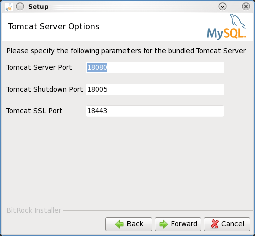 Installing the MEM 3.0 Service Manager - Step 5: Choose the port numbers