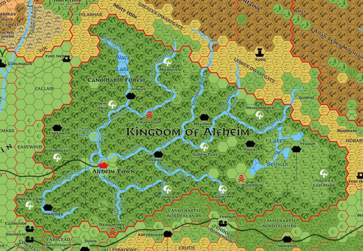Alfheim, 8 miles per hex