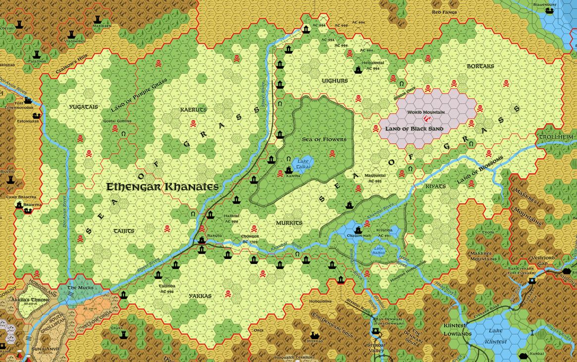 Ethengar, 8 miles per hex