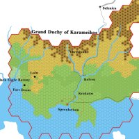 X10 Karameikos, 6 miles per hex
