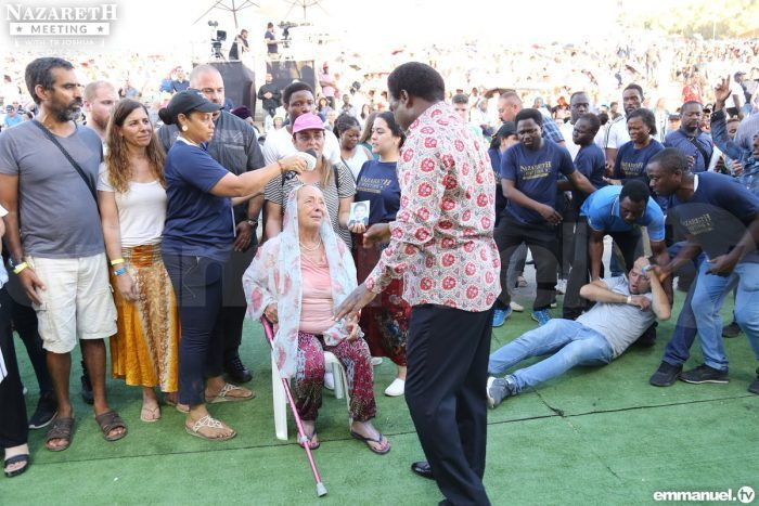 Prophet T.B. Joshua, like a rock star, has drawn a record crowd of evangelical Christians from all over the world to a mass faith-healing in a stadium just outside Jesus's hometown of Nazareth in Israel.