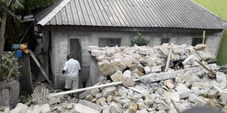 Two storey building collapses in Warri
