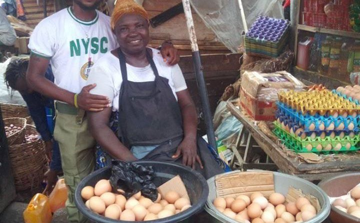 NYSC Corper Shows Off His Mother Who Sold Eggs To See Him Through University (Photos)