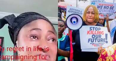 Ronke Oshodi Oke Cries Uncontrollably As She Regrets Campaigning For Buhari