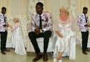 """Nigerian men will always disgrace you"" – Young Nigerian lady reacts to wedding photos of a young man and an older white woman."
