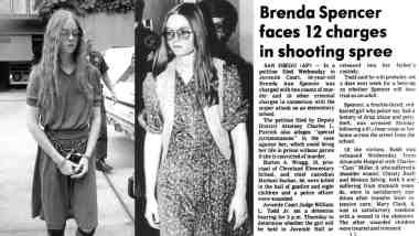 """Brenda Spencer - Vận động viên bắn súng học đường tuổi teen đầu tiên trên thế giới nói: """"Tôi không thích thứ hai!"""" số 7"""