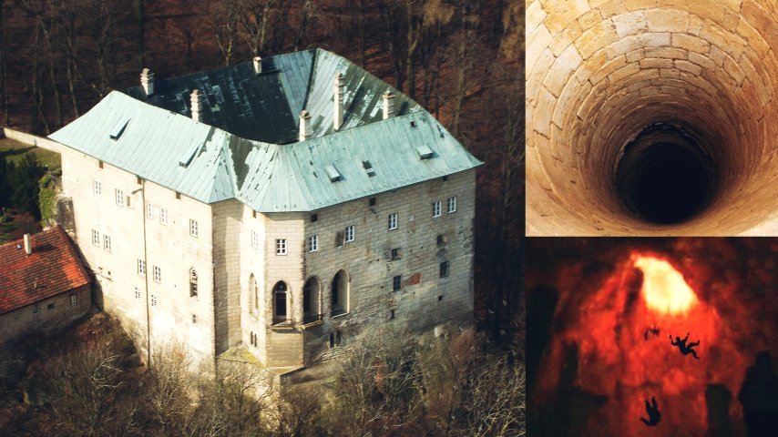 houska castle bottomless pit gateway to hell