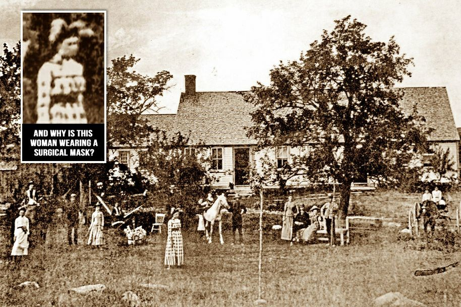 THE ARNOLD ESTATE FARMHOUSE CIRCA 1885 IS IT POSSIBLE THAT SUSPECTED WITCH BATHSHEBA SHERMAN IS IN THIS PHOTO?