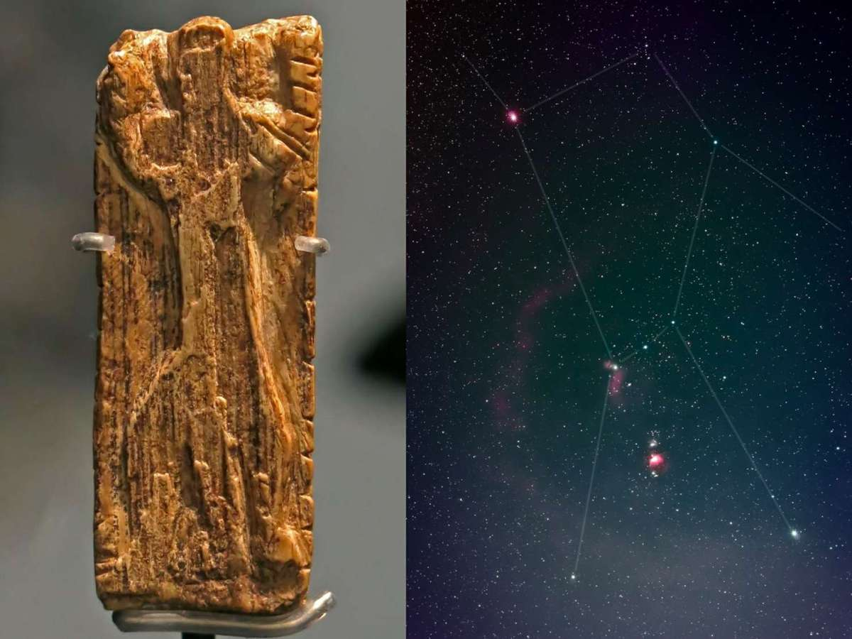 Η παλαιότερη εικόνα ενός μοτίβου αστεριού, αυτή του διάσημου αστερισμού του Ωρίωνα, έχει αναγνωριστεί σε ένα δισκίο ελεφαντόδοντου ηλικίας περίπου 32,500 ετών. Η μικροσκοπική αγκάθια του μαμούθ χαυλιόδοντου περιέχει μια γλυπτική μιας ανθρωποειδούς μορφής με τα χέρια και τα πόδια απλωμένα στην ίδια στάση με τα αστέρια του Ωρίωνα.