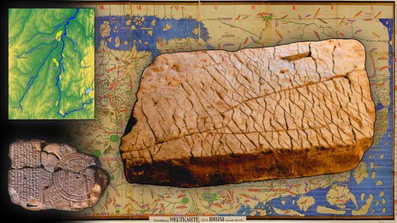 120 miljoen jaar oude kaart gevonden