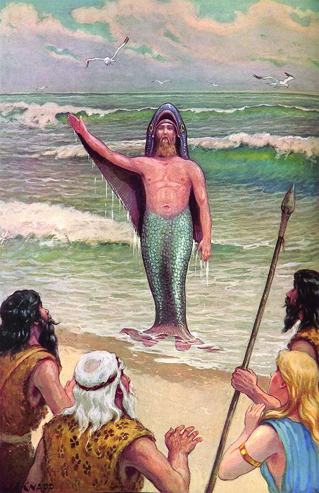 Oannes, der Amphibiengott des alten Irak