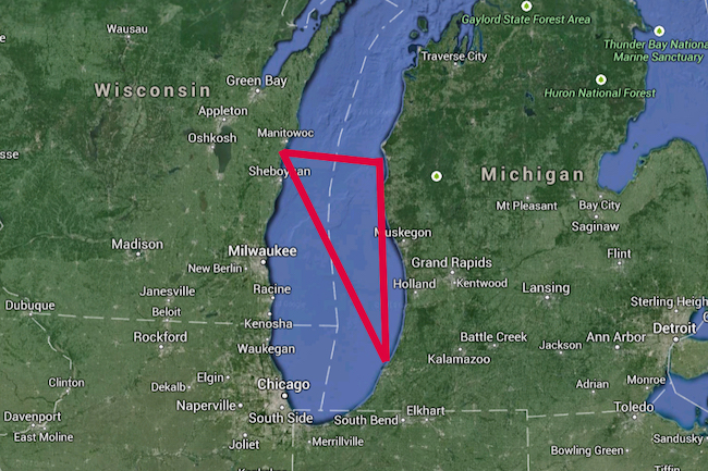 Lake Michigan Triangle