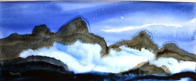 Tatoosh Range: Watercolor series fall 2013