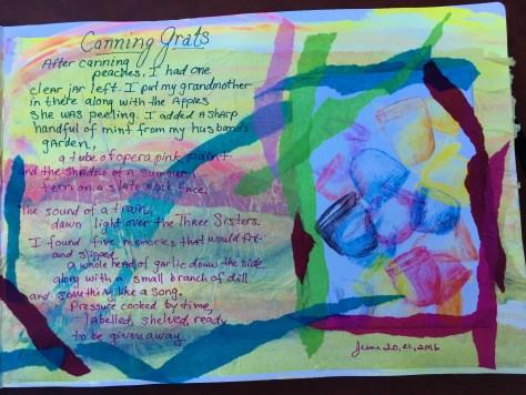 "Gratitude Journal page with my ""Gratitude Jar"" poem"