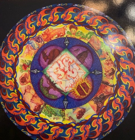 Gouache. Personal Mandala made in a Heroine's Journey Class by Sue Teutschell Davis