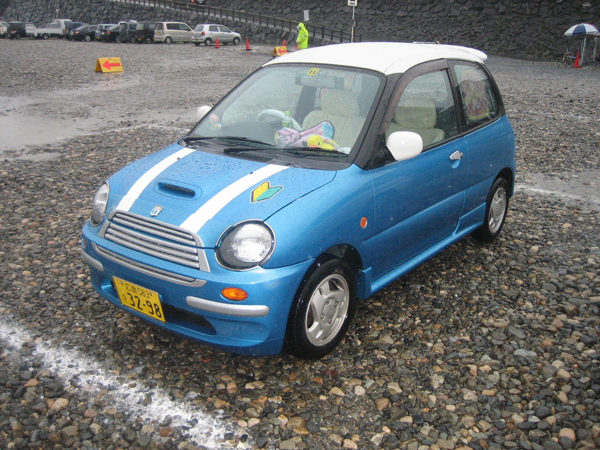 almost a mini cooper s (but really a daihatsu, as far as i can tell)