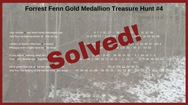 Forrest Fenn Gold Medallion Treasure Hunt 4 Clues - Year of Clean Water