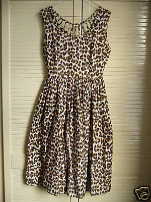 exquisite leopard 60's dress