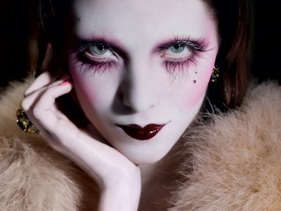 Over-the-top 1920's makeup for the 21st century
