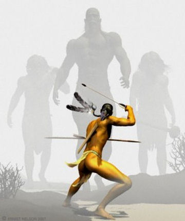 «Las leyendas de los nativo americanos detallan la existencia de una raza de gigantes» ...