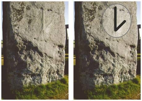Símbolo labrado sobre la Piedra 53.