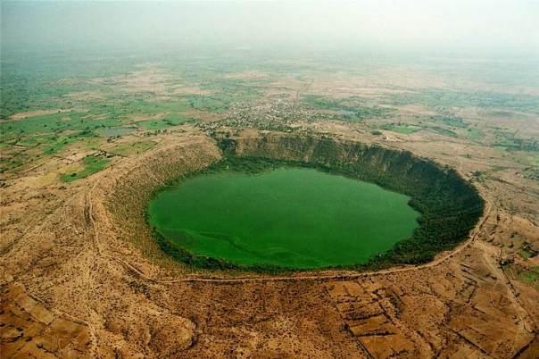 Cráter de Lago Lonar.