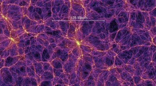 El nombre «materia oscura» hace referencia a que no emite ningún tipo de radiación electromagnética (como la luz). De hecho, no interactúa en ninguna forma con la radiación electromagnética, siendo completamente transparente en todo el espectro electromagnético. Su existencia se puede deducir a partir de sus efectos gravitacionales en la materia visible, tales como las estrellas o las galaxias, así como en las anisotropías del fondo cósmico de microondas presente en el universo.