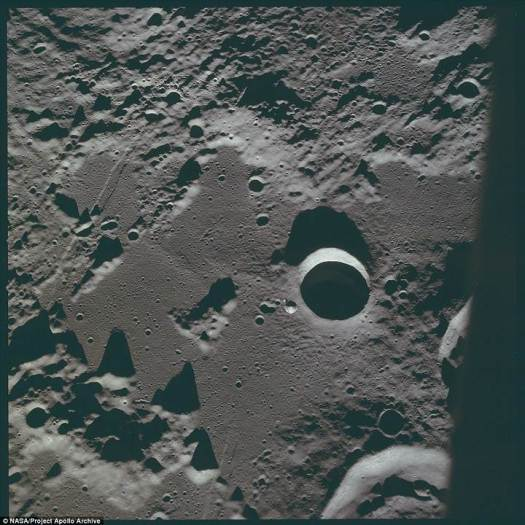 La polvorienta superficie lunar.