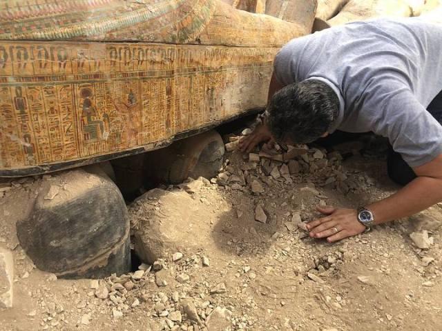 coffins found in a necropolis of Luxor
