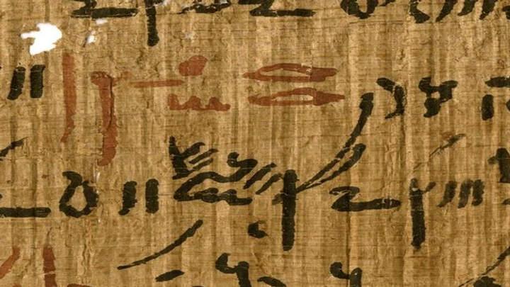Papiro egipcio.