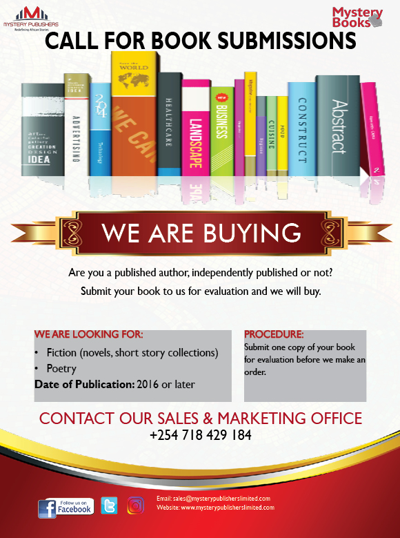 Call for Book Submissions | We are Buying