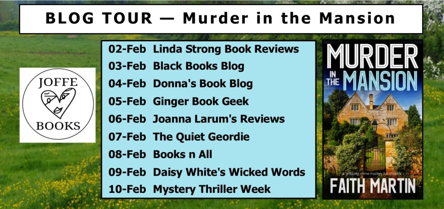 Blog Tour BANNER - Murder in the Mansion