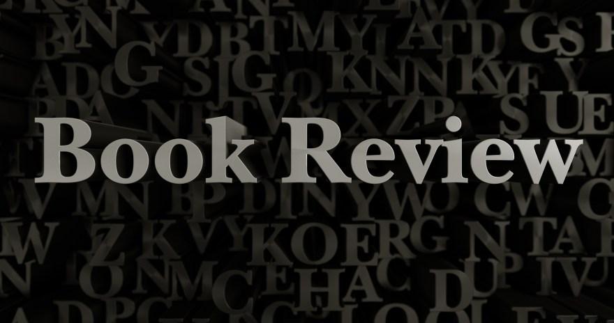 Book Review - 3d rendered metallic typeset