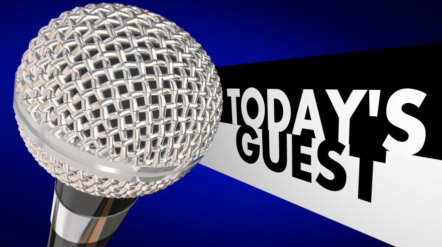 Today's Guest Talk Show Microphone Discussion Interview Program