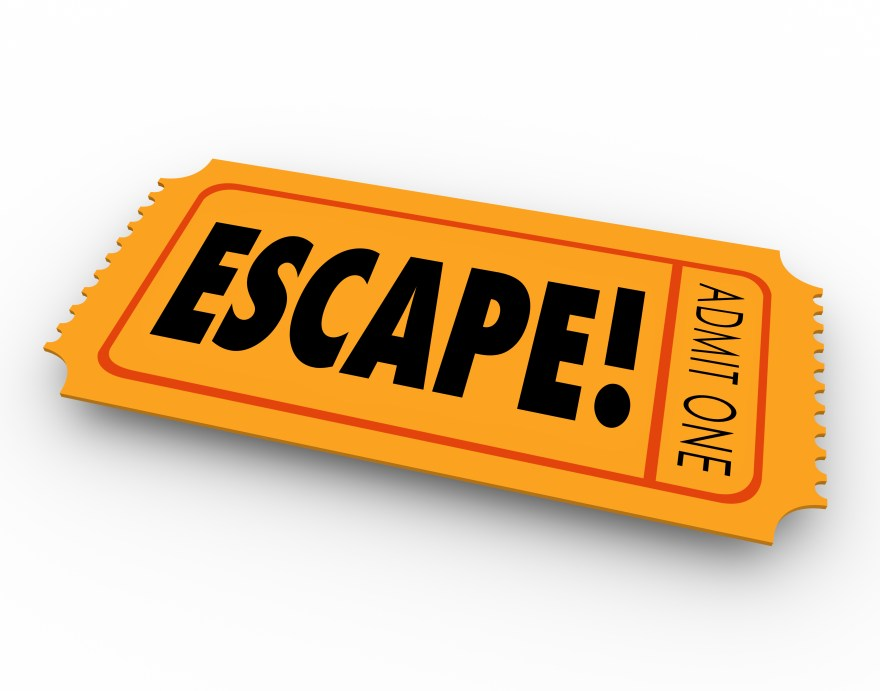 Escape Ticket Out Getaway Leaving Exiting Breaking Away