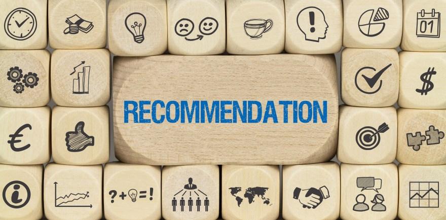 Recommendation / Würfel mit Symbole
