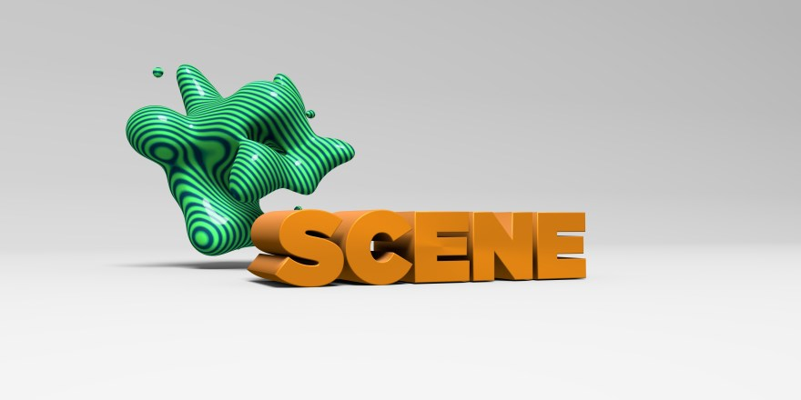 SCENE - 3d rendered headline