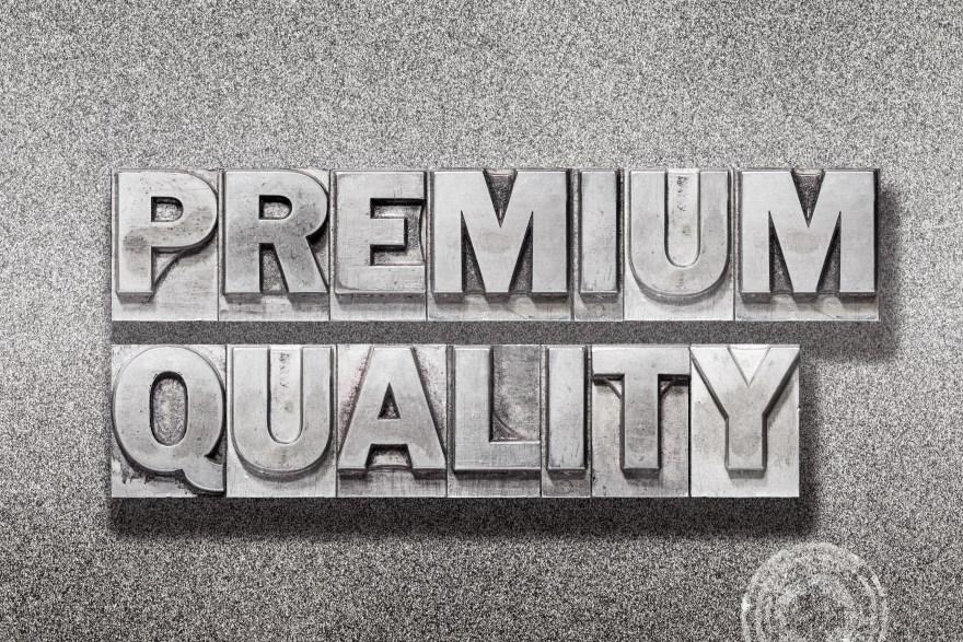 premium quality on metallic